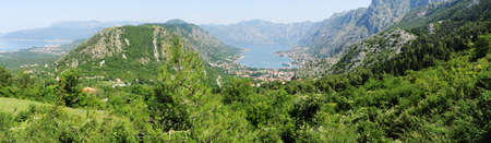 View at the bay of Kotor on Montenegro photo