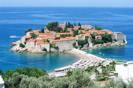 sveti: The village of Sveti Stefan on the coast of Montenegro