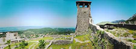 archaeological site: Archaeological site and Fortress of Kruja on Albania Stock Photo
