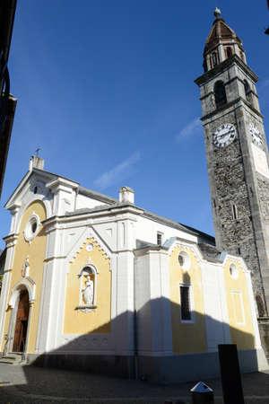 ticinese: The church of Ascona on the italian part of Switzerland