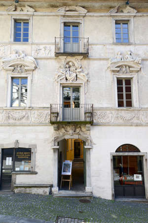 ticinese: Old house at Ascona on the italian part of Switzerland Editorial