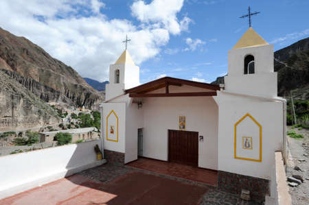 indios: Church of the indian village of Iruya on the Argentina andes