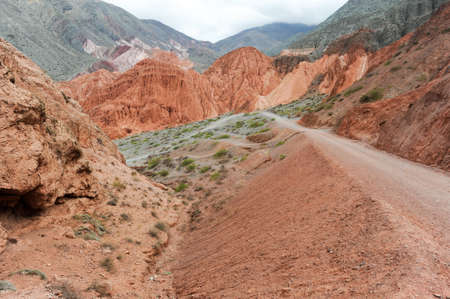 siete: Hill of seven colors at Purmamarca on Argentina andes Stock Photo