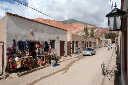 siete: The village of Purmamarca on Argentina andes Editorial