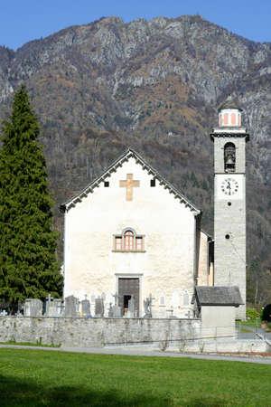 san michele: The church of San Michele at Palagnedra on Centovalli valley, Switzerland Stock Photo