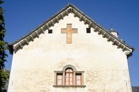 or san michele: The church of San Michele at Palagnedra on Centovalli valley, Switzerland Stock Photo