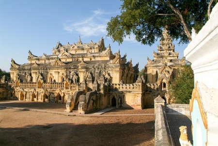 maha: Temple of Maha Aungmye Bonzan monastery in Inwa, Mandalay, Myanmar