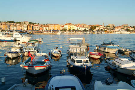 Rovinj, Croatia - August 24, 2004: The picturesque port of Rovinj on Croatia