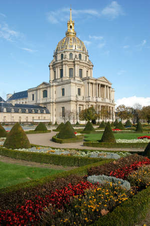statuary garden: Paris, France - 4 November 2002: Les Invalides is a complex of museums and tomb in Paris - military history museum of France and tomb of Napoleon Bonaparte