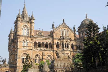 terminus: Chhatrapati Shivaji Terminus ex estaci�n de Victoria en Mumbai, India