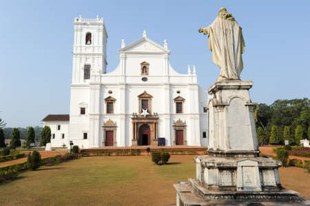 Se Cathedral in Old Goa , Goa India Standard-Bild