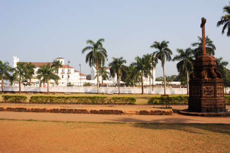 se: Convent, Church of St Francis of Assiisi and Se Cathedral in Old Goa , Goa India Stock Photo