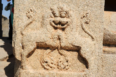 deities: Ancient basrelief of hindu deities in Achyutaraya Temple, Hampi, India Stock Photo
