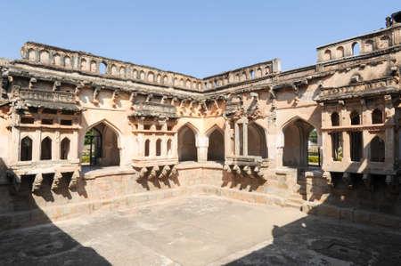 karnataka culture: Queen bath temple at Hampi on India