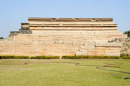 enclosure: Royal Enclosure temple at Hampi on India