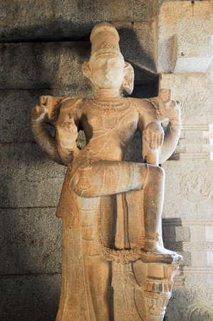 karnataka culture: Sculpture of Vittala temple at Hampi on India Stock Photo