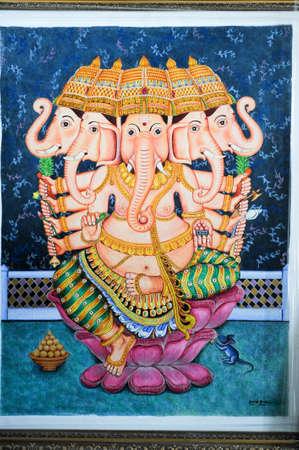 divinity: Painting of Ganesh hindu god