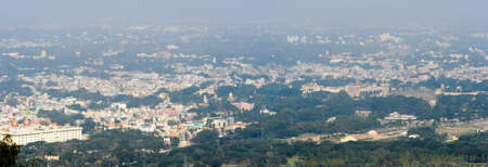 Panoramic view to the city of Mysore on India Stock Photo