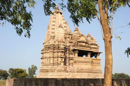 khajuraho: Temple of Khajuraho on India, Unesco world heritage Stock Photo