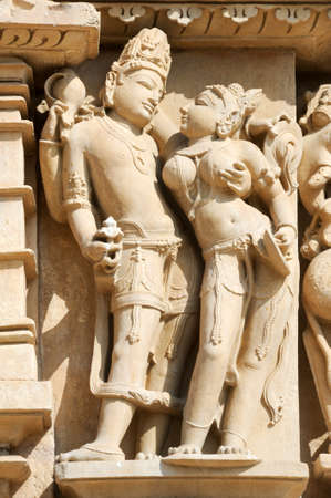 best guide: Detail of artwork at the Khajuraho temple on India