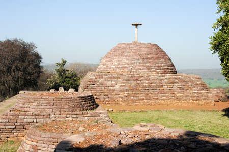 emperor ashoka: Sanchi Stupa is located at Sanchi Town, Madhya Pradesh state in India