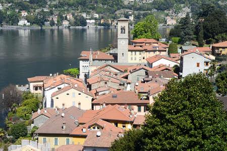 lake como: The village of Torno on lake Como, Italy Stock Photo