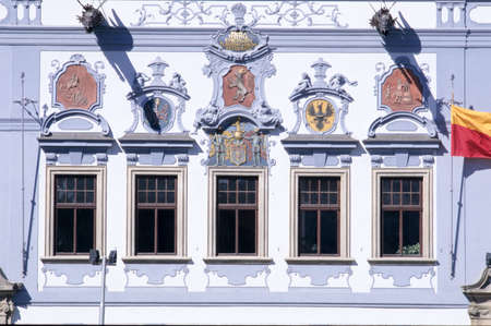 budejovice: Town hall of Budejovice on Czech Republic