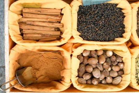 teas: Teas and Spices at a market