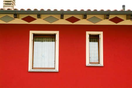 single family: Windows or a single family home at Lugano on Switzerland