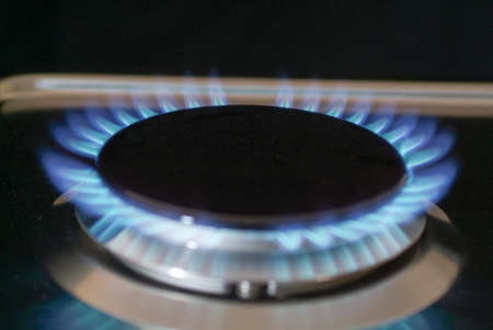 gas burner: Gas burner in the kitchen oven