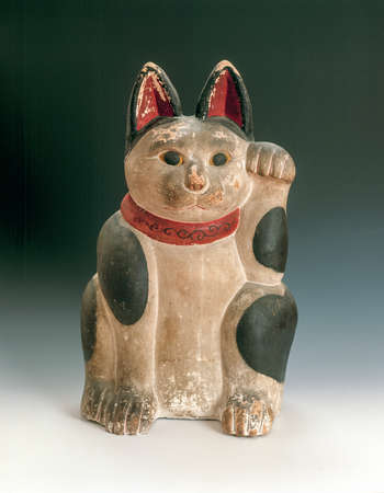 fareast: Ceramic Japanese welcoming Cat or lucky Cat