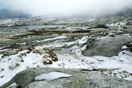 singularity: Landscape at St. Gotthard pass on the Swiss alps Stock Photo