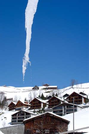 sopel lodu: Icicle at Engelberg on the Swiss alps