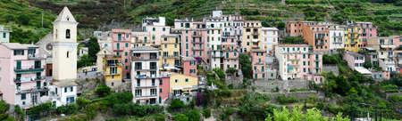 cinque: The village of Manarola on Cinque Terre, Italy