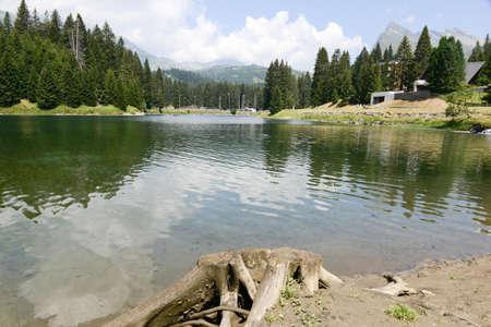 bernardino: Lake San Bernardino on Mesolcina valley, Switzerland Stock Photo