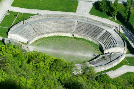 roman amphitheater: Roman amphitheater in Martigny, Switzerland