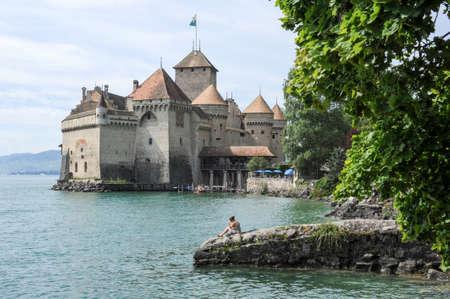 montreux: Montreux, Switzerland - 16 July 2011: Woman