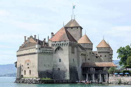 chillon: The castle of Chillon in Montreux, Switzerland