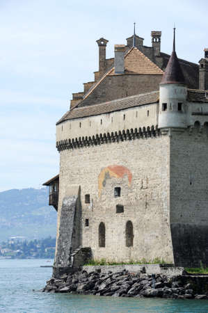 montreux: The castle of Chillon in Montreux, Switzerland