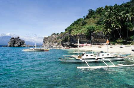 apo: Beach at Apo island on the Philippines