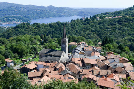 orta: The rural village of Arola over lake Orta on Piedmont, Italy