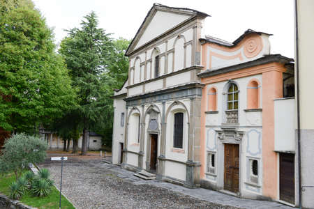 orta: Sacred Mount Orta on Piedmont, Italy Stock Photo