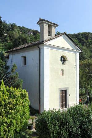 The chapel at Arasio on the italian part of Swizerland Stock Photo