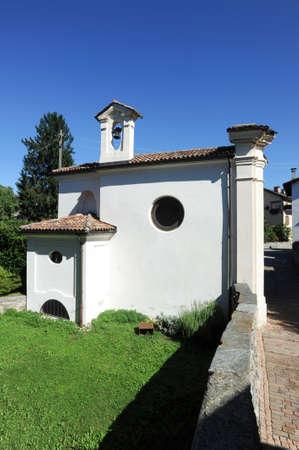The chapel at Gentilino on the italian part of Swizerland Stock Photo