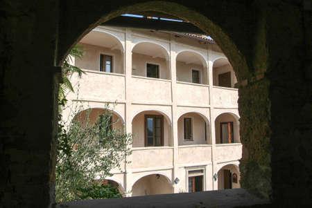 collina: House at the old village of Bigogno on the italian part of Switzerland