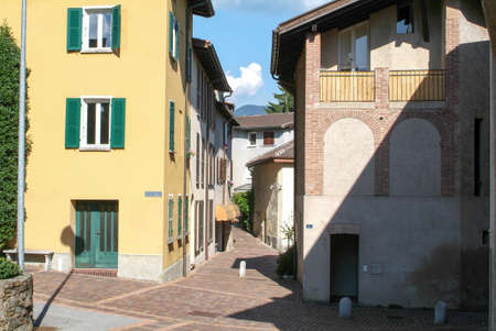 collina: Houses at the old village of Gentilino on the italian part of Switzerland Editorial