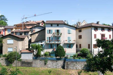 collina: Houses at the village of Montagnola on the italian part of Switzerland