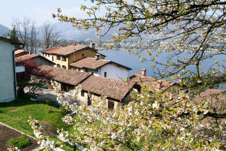 collina: Pinaroncate, Switzerland. Houses at the village of Pianroncate on lake Lugano in the italian part of Switzerland