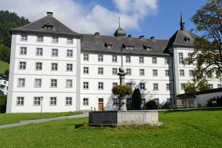 ecclesiastical: The convent of Engelberg on the Swiss alps