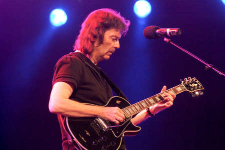 steve: Lugano, Switzerland - 4 July 2009: concert of guitarist Steve Hackett, former member of Genesis, during Estival Jazz in Lugano, Switzerland Editorial